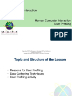 8 User Profiling