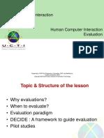 11 Evaluation
