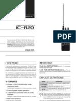 Icom IC-R20 Instruction Manual