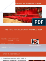 Presentation on Fire Safety in Auditorium and Multiplex