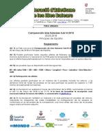 Balear Infantil Reglamento
