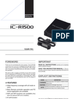 Icom IC-R1500 Instruction Manual