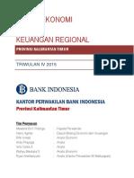KEKR Provinsi Kalimantan Timur Triwulan IV 2015
