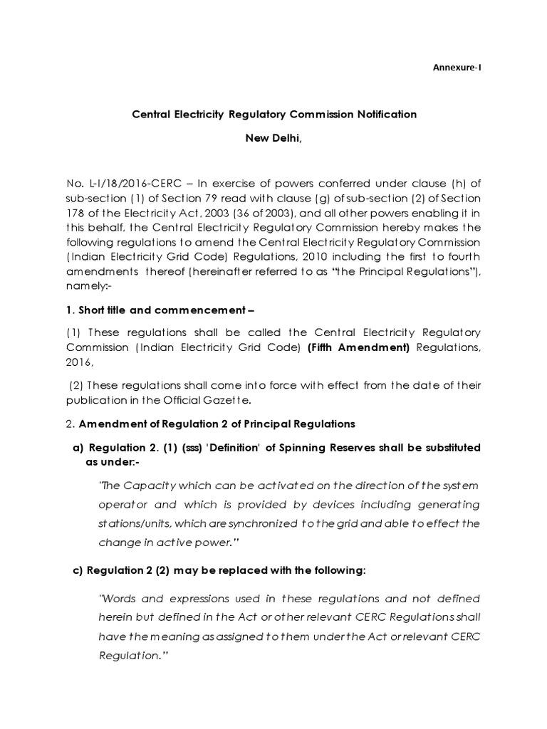 amendment to iegc (fifth amendment) | physical universe | power