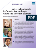 Fiscal Transfers to Immigrants in Canada