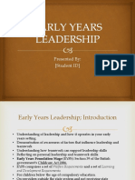 Early Years Leadership
