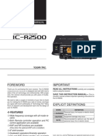 Icom IC-R2500 Instruction Manual