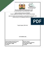 Bid Document for Upgrading to Bitumen Standards