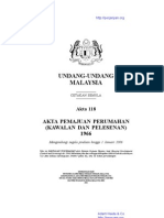 Akta 118 Akta Pemajuan Perumahan (Kawalan Dan Pelesenan 1966