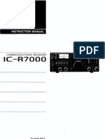 Icom IC-R7000 Instruction Manual