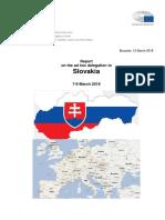 Správa z návštevy delegácie Európskeho parlamentu na Slovensku