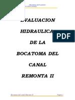 Evaluacion Hidraulica de La Bocatoma Remonta II
