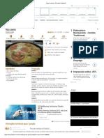 Pizza Caseira, Receita Petitchef