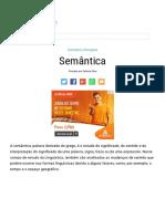 SEMÂNTICA - Sinonímia, Antonímia, Paronímia, Polissemia e Mais!