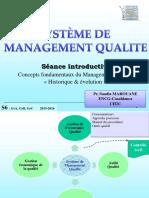 Séance 1 Introductive Sur Les Concepts Fondamentaux Du Management de La Qualité