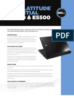 Dell Latitude E5400 and E5500 Spec Sheet