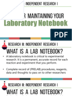 Laboratory Notebook Rules