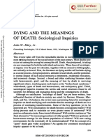 Dying and the Meanings of Death - Riley Jr.