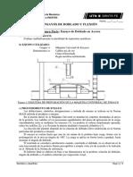 Trabajos Prácticos N° 3 - Ensayo Doblado (acero) y Flexión (madera)