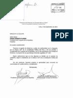 Pedido del Ejecutivo de derogatoria del DL Nº 1097