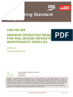 Crn Rs 005 v20 Minimum Operating Requirements for Rail Bound Infrastructure Maintenance Vehicles