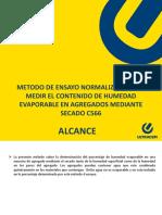 Metodo de Ensayo Normalizado Para Medir El Contenido de Humedad Evaporable en Agregados Mediante Secado c566