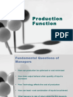 3.1 Production Function