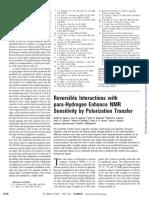 Adams Et Al._reversible Interactions With Para-Hydrogen Enhance NMR Sensitivity by Polarization Transfer_Science_2009