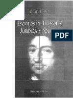 Escritos de Filosofia Juridica - Gottfried Wilhelm Leibniz