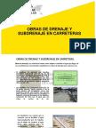Obras de Drenaje y Subdrenaje en Carretas