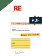 Cahier d'activité Maths 4eme