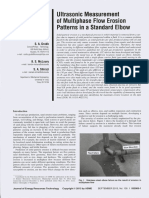 Ultrasonic Measurement of Multiphase Flow Erosion Patterns in a Standard Elbow
