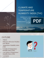 Climate and Temperature Humidity Index (Thi)