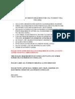 Usa Tourist Visa Documents - Copy