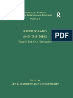 [Kierkegaard Research_ Sources, Reception and Resources 1] Jon Stewart, Lee C. Barrett (Eds.) - Kierkegaard and the Bible. Tome I_ the Old Testament (2010, Routledge)