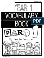 Year 1 Vocabulary Book Part 1