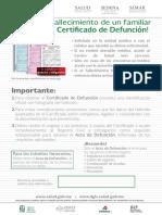Cartel CertDefuncion