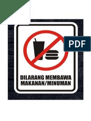 Dilarang Membawa Makanan N Minuman