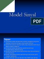 Sinsis 2 a. Model Sinyal