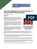 Feds Spent $800,000 of Economic Stimulus on African Genital-Washing Program