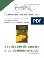 RESENHA (2014) - A Sociedade Do Cansaço e Do Abatimento Social