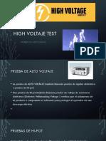 High Voltaje Test