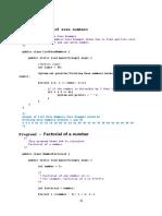 Some Java Programs