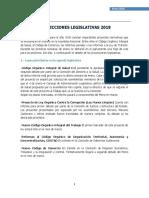 Proyecciones legislativas 2018