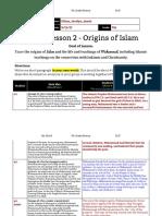 unit 1  lesson 2 - 7th grade - origins of islam