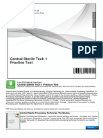 Central Sterile Tech 1 Practice Test