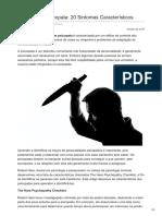Pt.lifeder.com-Perfil de Um Psicopata 20 Sintomas Característicos