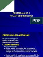 5. Pemunculan Airtanah