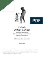Vida de Pedro Saputo. Braulio Foz