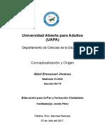 1ra Tarea de Educacion Para La Paz y Formacion Ciudadana